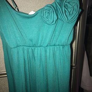 Women's teal maxi dress